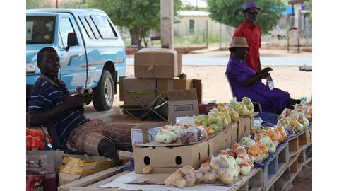 Informal traders satisfied with business at Khorixas