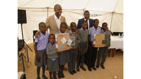 Namcor donates computers to needy school