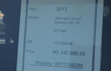 Jeep Wrangler 2013 Unlimited Sahara 3.6 Litre V6
