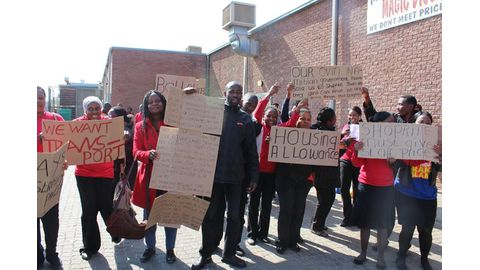 Demo in solidarity with Shoprite workers