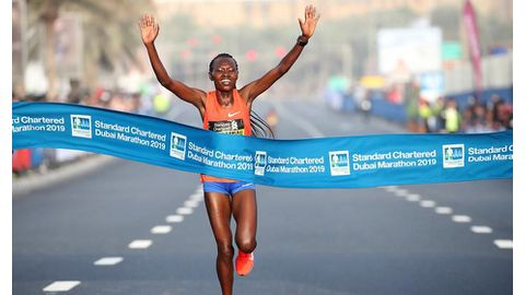 Chepngetich claims fastest half marathon ever recorded in Japan