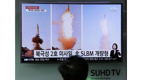 N. Korea tests ballistic missile