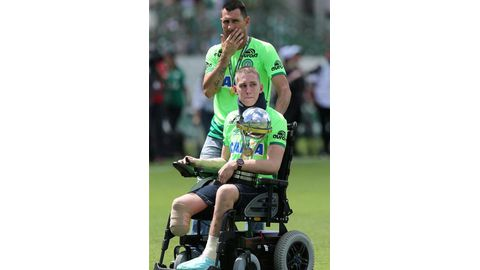 Tears flow as Chapecoense returns to action