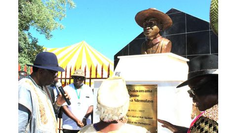 Queen appeals for return of King Mandume's head