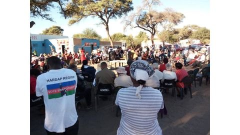 Hardap to march against Wambo
