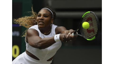 Serena fined for damaging Wimbledon court
