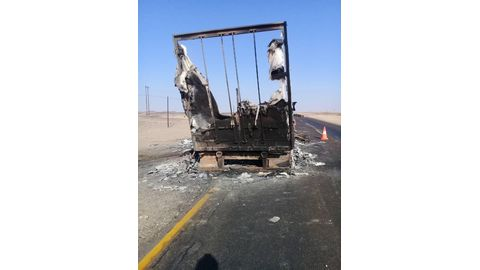 Costly fire on B2 highway