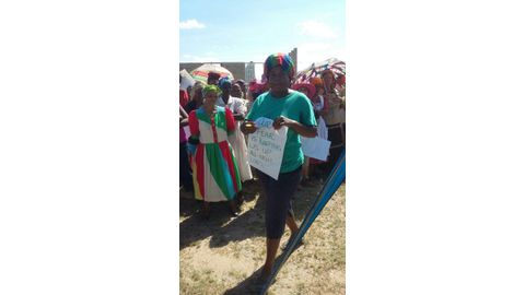 Schlip residents protest gender violence