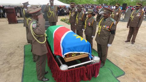 Struggle veteran Isak Shoome laid to rest