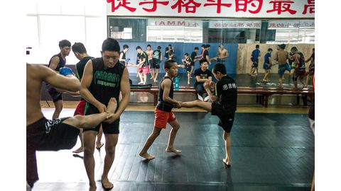 Chinese kids adopted by MMA club