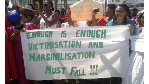 Hundreds march for Swartbooi