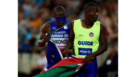 Namibian sprinter chases T11 titles in Dubai