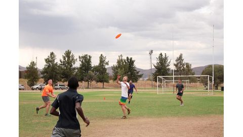Frisbee comes to town