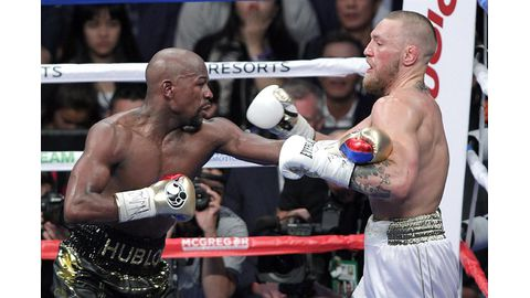 Fifty and out as Mayweather stops brave McGregor