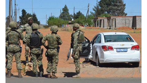 SADC troops deployed in Lesotho