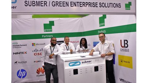 Green exhibits at AfricaCom