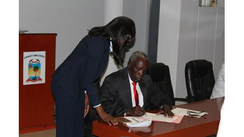 Shilunga sworn in as Oshakati councillor