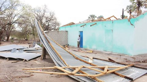 Roofs blown off at Engela