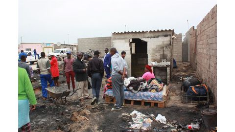 Homeless fire victims want audience with Geingob