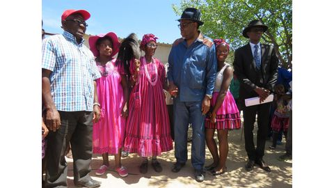 Omusati girl thrilled with presidential visit