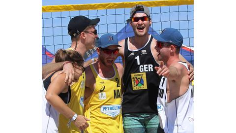 International Volleys on top of their game