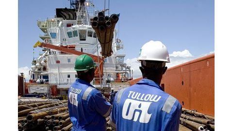 Tullow Oil stays in red