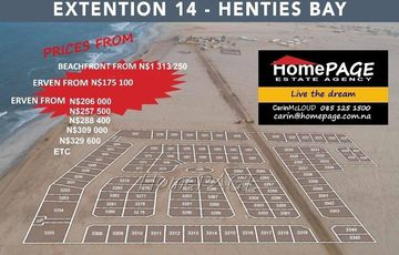 ​Ext 14 (Namib Desert), Henties Bay: Newly Launched Erven are for Sale