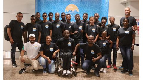 Team Namibia arrive for IPC world champs