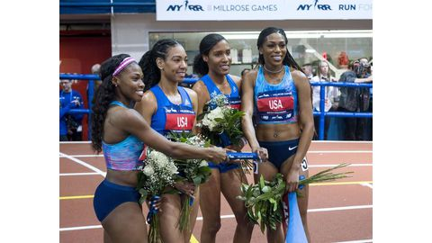 US ladies break 4x800m relay record