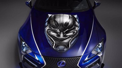 Lexus LC 500 showcased in 'Black Panther'