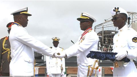 Navy sees change of command