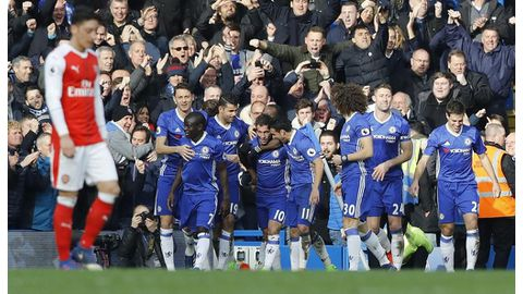 Blues overpower Arsenal to stretch lead