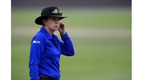 Special day for woman cricket umpire