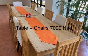 Dining room chairs and tables
