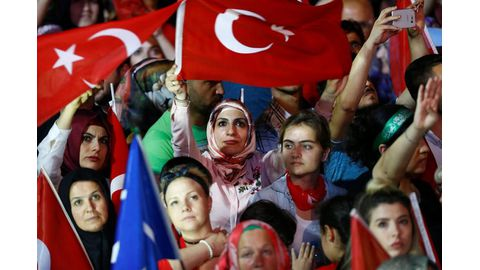 Turkey marks coup defeat with rallies