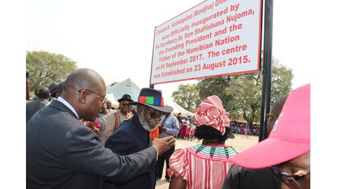 Nujoma opens Kashuupulwa growth centre
