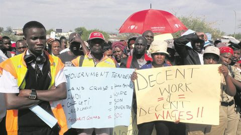 Security guards' jobs at stake