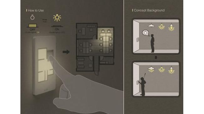 Light Switch Based On Floor Plan By Taewon H