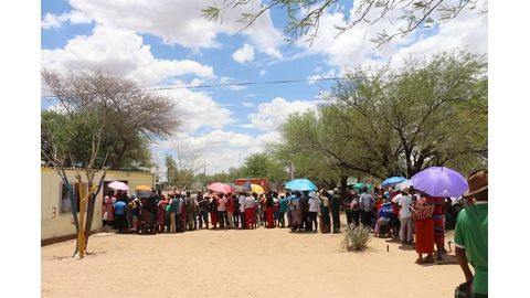 Namibian youth exercise their democratic right