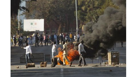 Harare on fire following vote