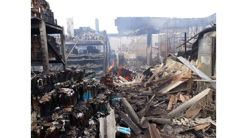 Inferno reduces wholesaler to rubble