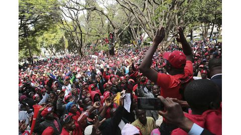 Zim opposition marches for reform ahead of polls