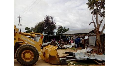 Stands demolished for non-payment