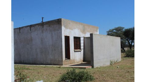 Houses turned into ablution blocks
