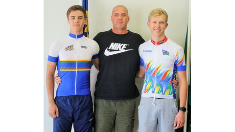 Junior cyclists in good shape