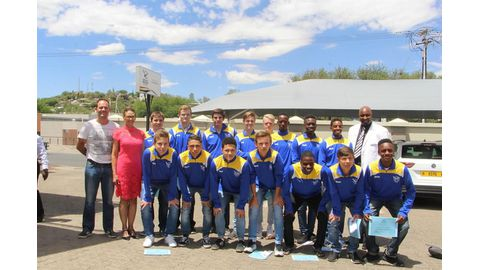Hockey receives colours ahead of Zim clash