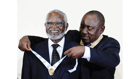Nujoma honoured for apartheid fight
