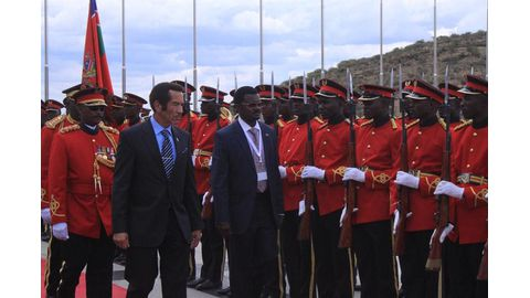 Khama on last official visit to Namibia