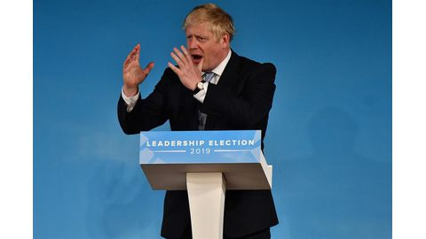 British PM favourite Johnson set to face the world