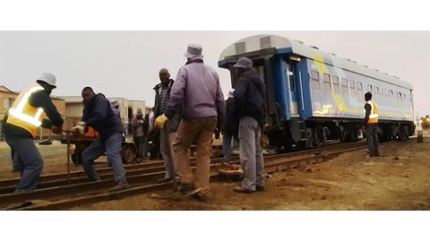 Train accident at Walvis station